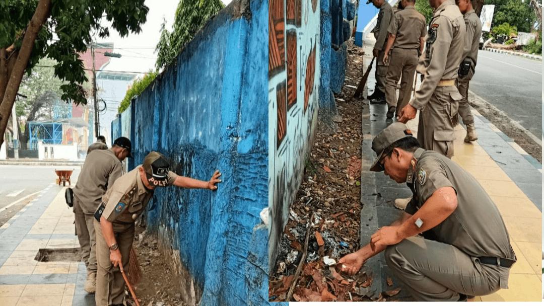 Sukseskan Porwil Ke X Se Sumatera,Satpol PP lakukan bersih bersih